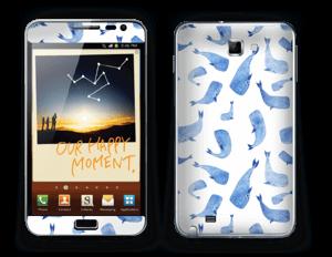Blå hvaler Skin Galaxy Note