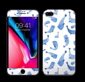 Blå hvaler Skin IPhone 8 Plus