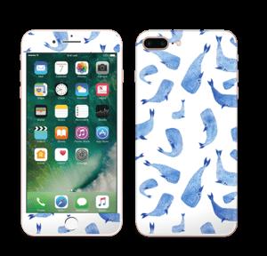 Blå hvaler Skin IPhone 7 Plus