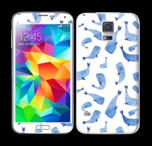 Blå hvaler Skin Galaxy S5