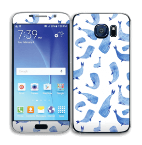 Blå hvaler Skin Galaxy S6