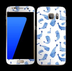 Blå hvaler Skin Galaxy S7