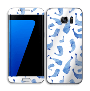 Whales in blue Skin Galaxy S7 Edge