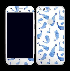 Blå hvaler Skin Pixel
