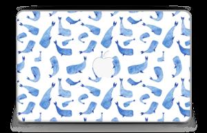 "Whales in blue Skin MacBook Air 11"""