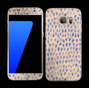 Gouttes bleues Skin Galaxy S7