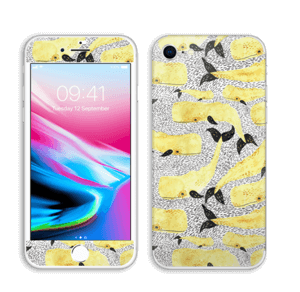 Whales in yellow Skin IPhone 8
