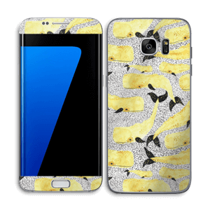 Whales in yellow Skin Galaxy S7 Edge