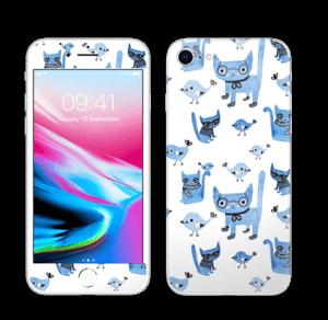 Birds & cats Skin IPhone 8
