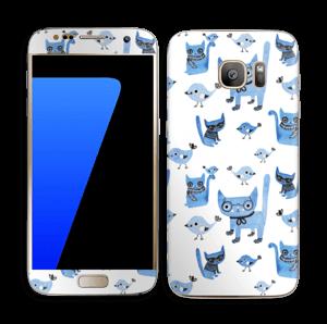 Oiseaux et chats Skin Galaxy S7