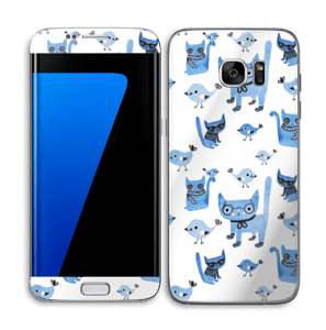 Birds & cats Skin Galaxy S7 Edge