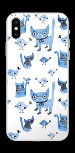 Gatti e uccelli Skin IPhone X