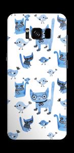 Katzen und Vögel Skin Galaxy S8