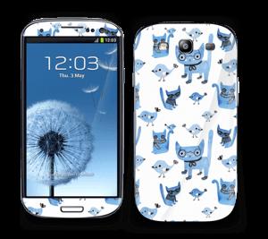 Birds & cats Skin Galaxy S3