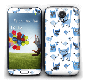 Birds & cats Skin Galaxy S4