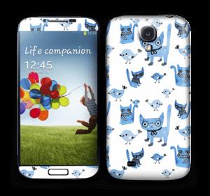 Cats & birds  Skin Galaxy S4