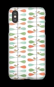 Småfugler og blader deksel IPhone X