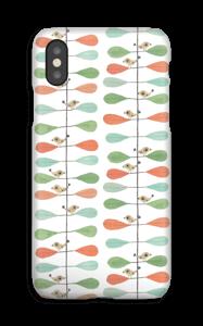 Piccoli uccelli e foglie cover IPhone XS