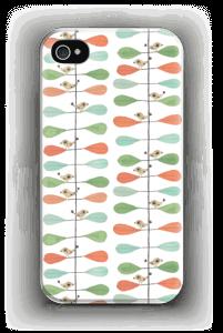 Pikkulinnut ja lehdet kuoret IPhone 4/4s