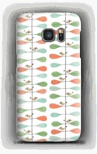 Pikkulinnut ja lehdet kuoret Galaxy S7