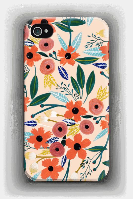 Kesän kukkasia kuoret IPhone 4/4s