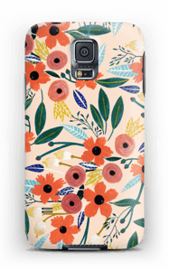 Kesän kukkasia kuoret Galaxy S5