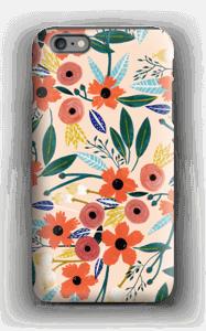 Summer Flowers deksel IPhone 6 Plus tough