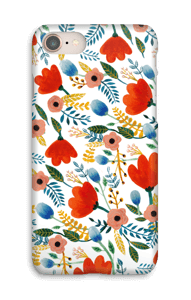 Rosa`s blomster cover IPhone 8