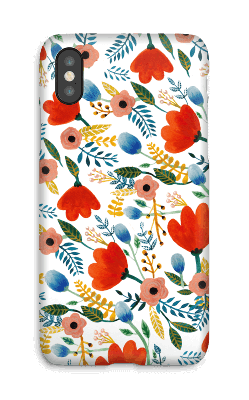 Rosa's Flowers case IPhone X