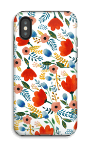 Fleurs Coque  IPhone X tough