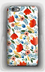 Rosa's Flowers deksel IPhone 6 Plus tough