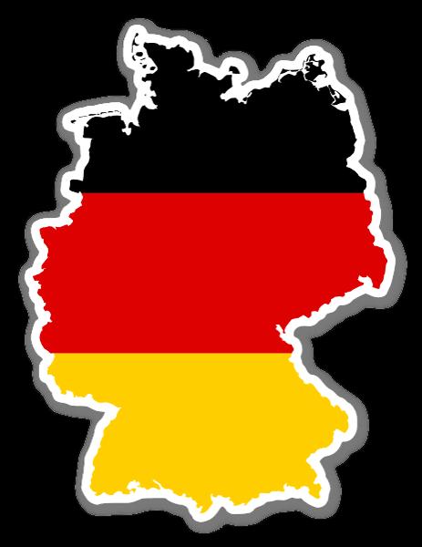 Deutschlandflagge Aufkleber Deutschlandaufkleber