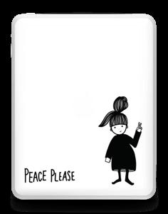 Please Peace Skin IPad 1
