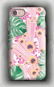 Pinkki riikinkukko kuoret IPhone 7 tough
