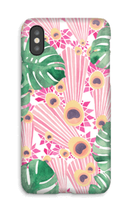 Pavo Real Rosa funda IPhone X