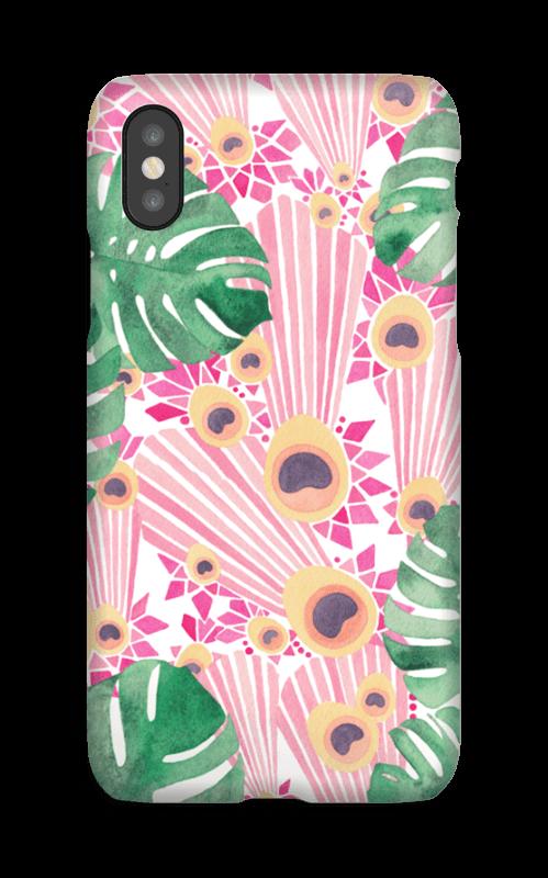 Rosa påfugl deksel IPhone X