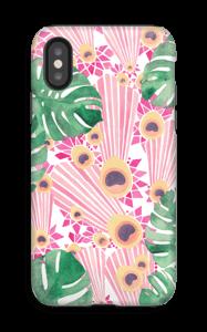 Pinkki riikinkukko kuoret IPhone X tough