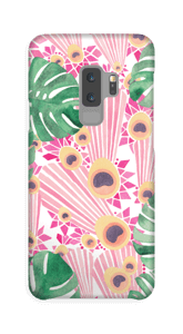 Rosa påfågel skal Galaxy S9 Plus