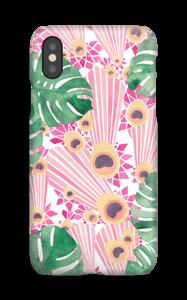 Plantes & plumes roses Coque  IPhone XS
