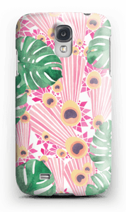 Plantes & plumes roses Coque  Galaxy S4