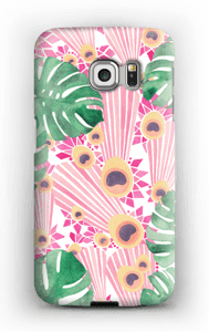 Lyserød påfugle cover Galaxy S6 Edge