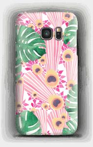 クジャク ピンク ケース Galaxy S7
