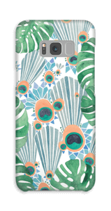 Blå påfugle cover Galaxy S8 Plus