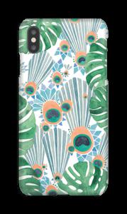 Sininen riikinkukko kuoret IPhone XS Max