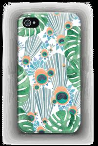 Sininen riikinkukko kuoret IPhone 4/4s
