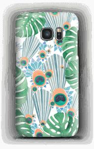 クジャク ブルー ケース Galaxy S7
