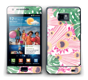 Plantes & plumes roses Skin Galaxy S2