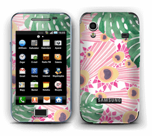 Plantes & plumes roses Skin Galaxy Ace