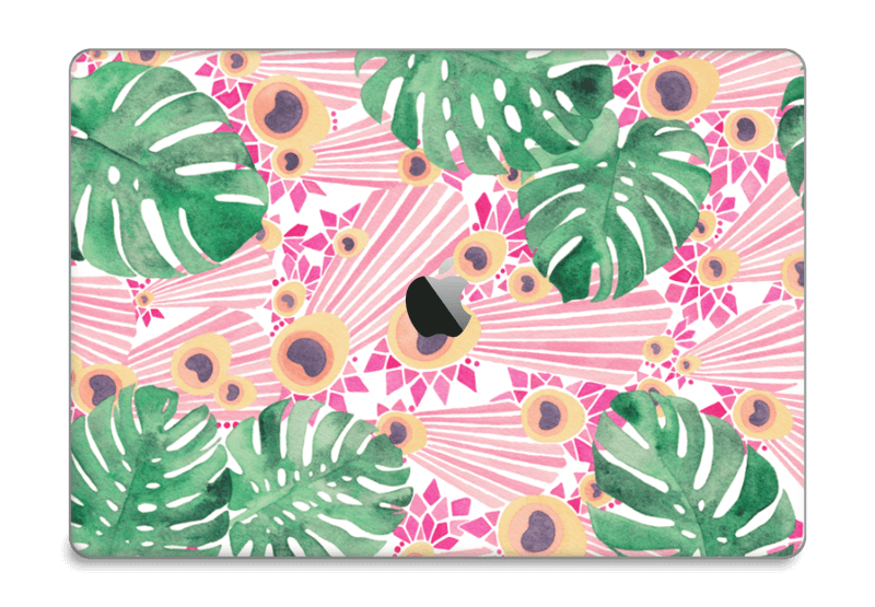 "Plantes & plumes roses Skin MacBook Pro 15"" 2016-"
