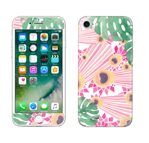 Plantes & plumes roses Skin IPhone 7